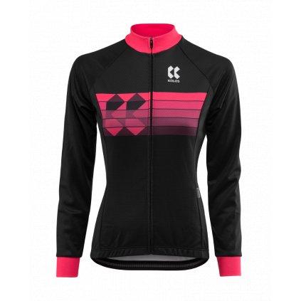 Cyklistický dres Kalas Motion Z dlouhý rukáv černý/růžový