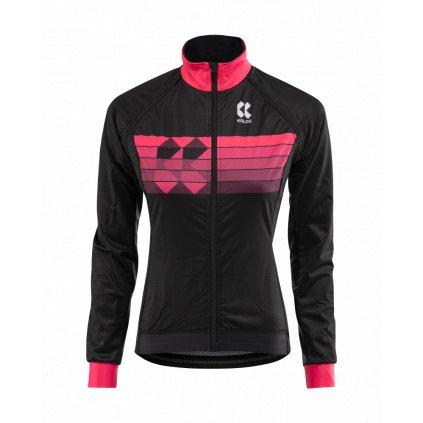 Cyklistická bunda Kalas Motion Z černá/růžová