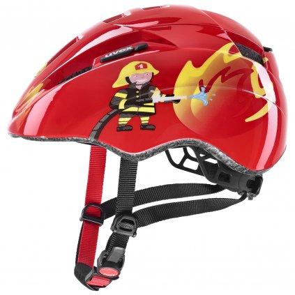 Cyklistická přilba Uvex Kid 2 - red fireman (46/52)