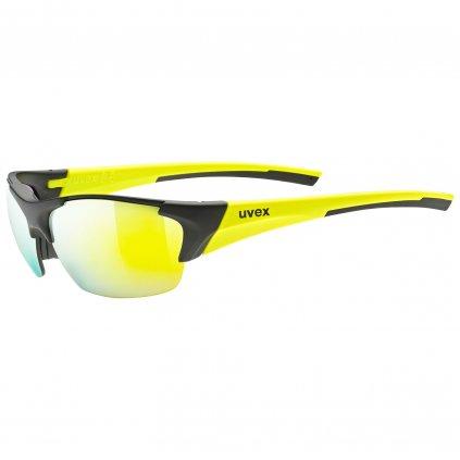 Sluneční brýle Uvex Blaze III - black mat/yellow