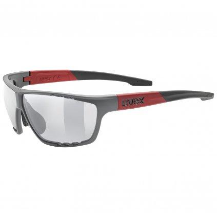 Sluneční brýle Uvex Sportstyle 706 - grey mat/red