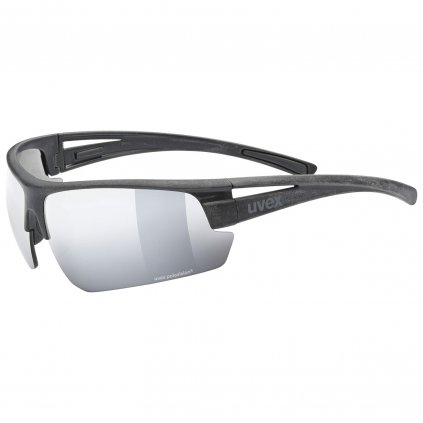 Sluneční brýle Uvex Sportstyle Ocean polavision - black mat/mirror silverd