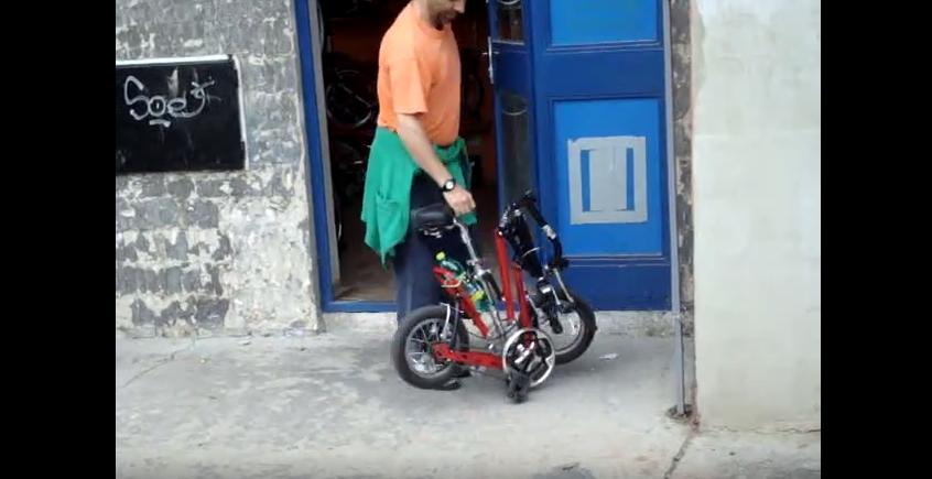 Skládací kolo Gekko – zajímavé ale těžké zákazníkovo kolo plné vůlí ve svých četných kloubech