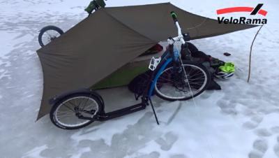 Sázava na ledu- kolobko bikepacking 2017