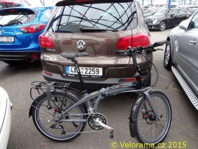 Skládací kolo Tern Eclipse ve VW Tiguan 2012