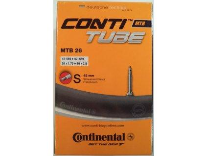 6501 duse continental mtb 26 47 559 62 559 fv 42mm galuskovy ventilek