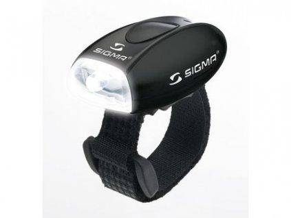 Bílá blikačka Sigma Micro na pásek se suchým zipem
