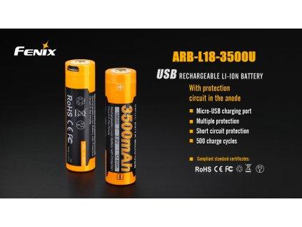 Fenix usb nabijeci baterie 18650 (1)