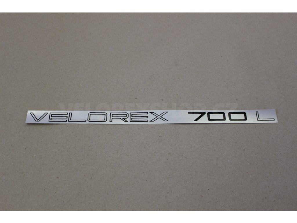 Nápis Velorex 700 retro