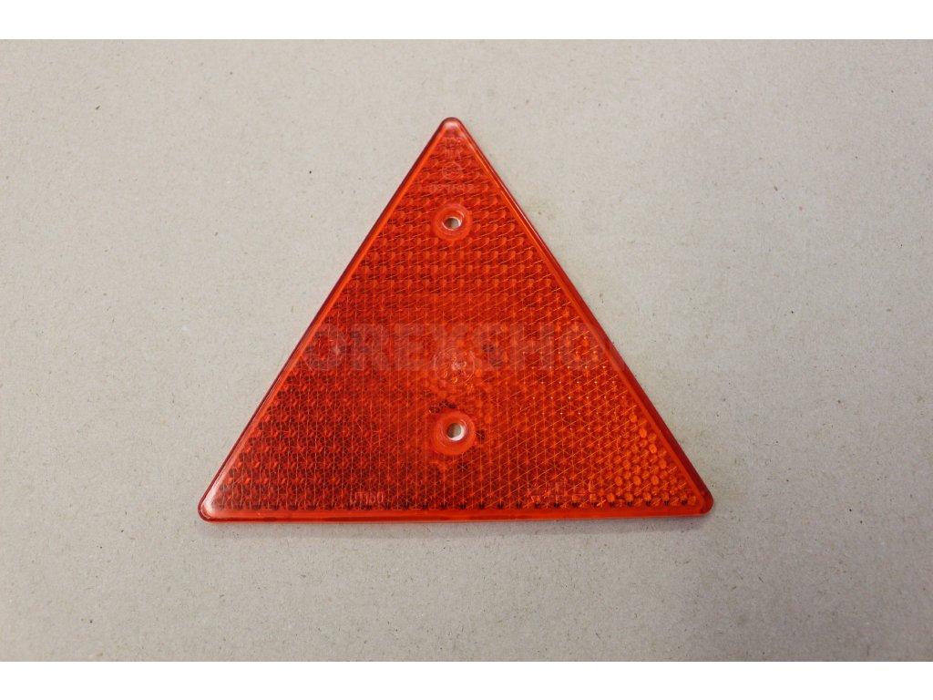 Odrazka červená trojúhelník