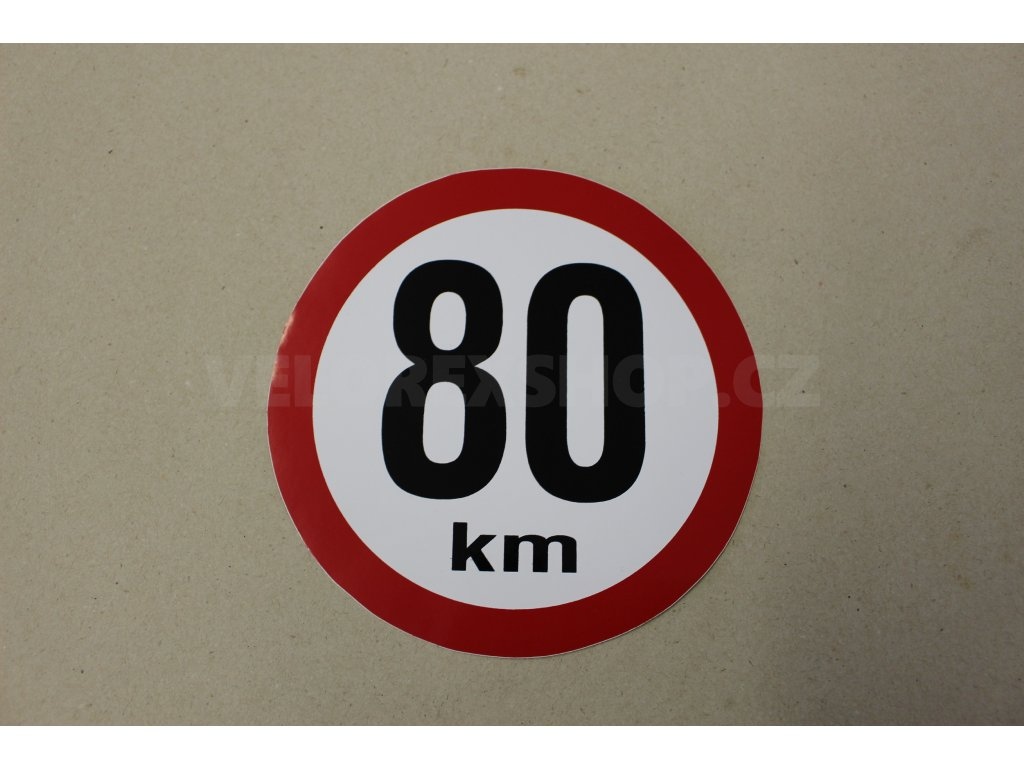 Samolepka 80 km