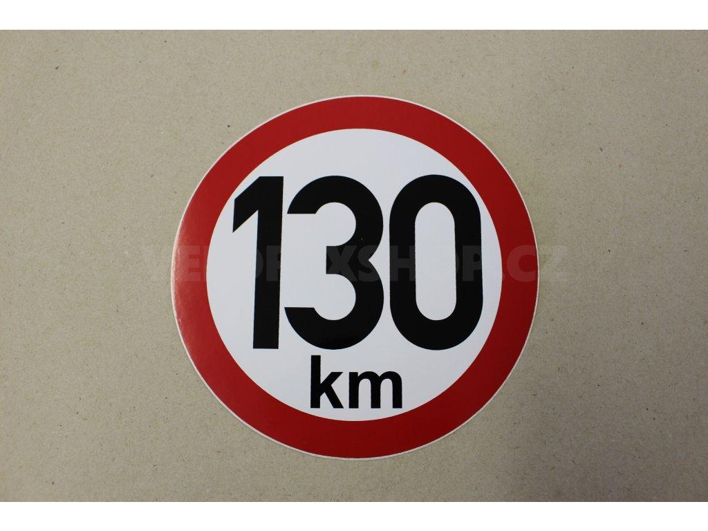 Samolepka 130 km