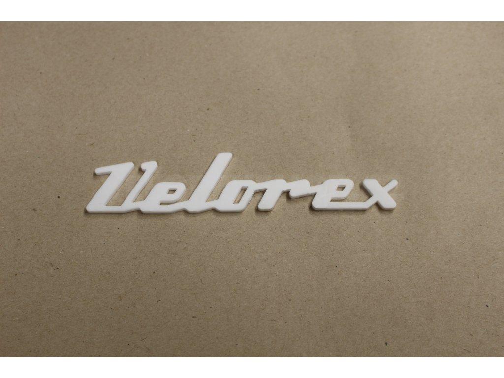 Nápis Velorex plast
