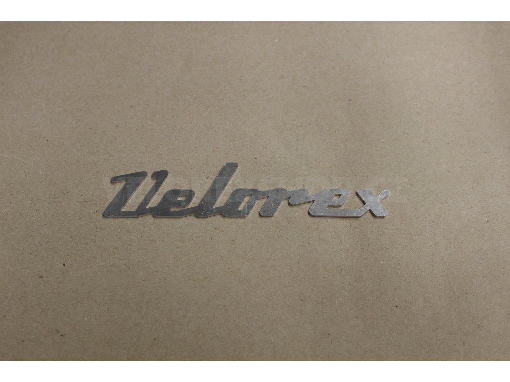 Nápis Velorex hliník