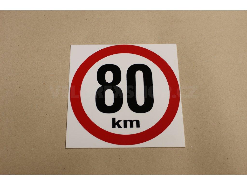 Plastová cedule 80kmh