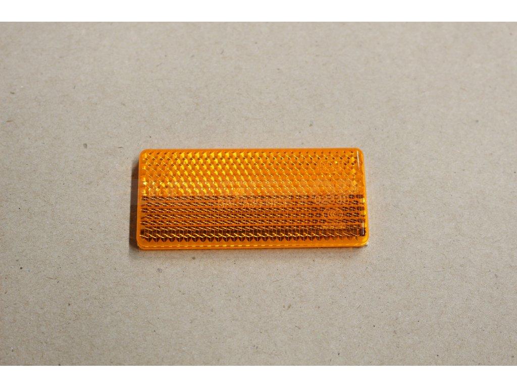 Odrazka oranžová 70x30