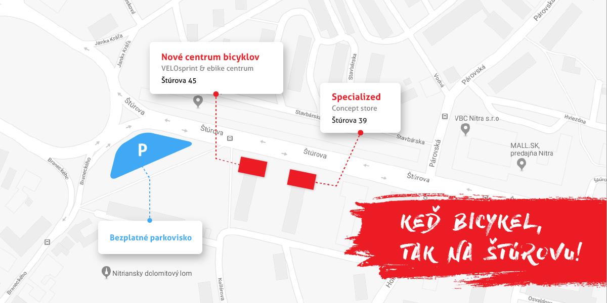 Nové VELOsprint & e-bike Centrum otvorené od 18.1. 2018