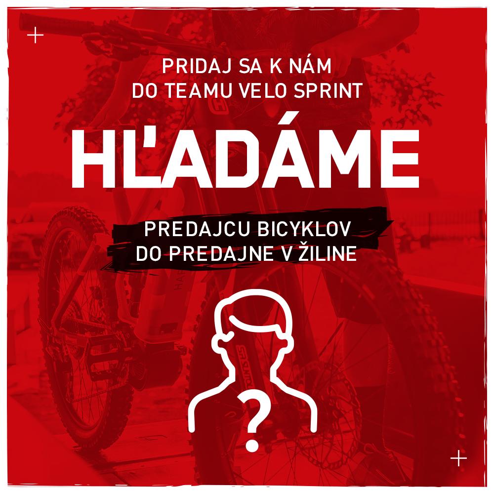 Ponuka práce VELO sprint Žilina - Predajca bicyklov