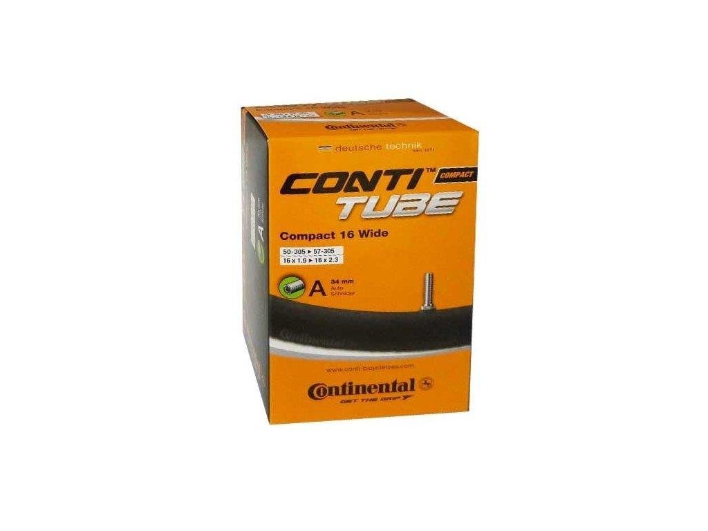 """Continental Compact 16 wide 16"""" 16x1,9 - 16x2,5 (50-305 -> 62-305) Klasický (dunlop) 26 mm"""
