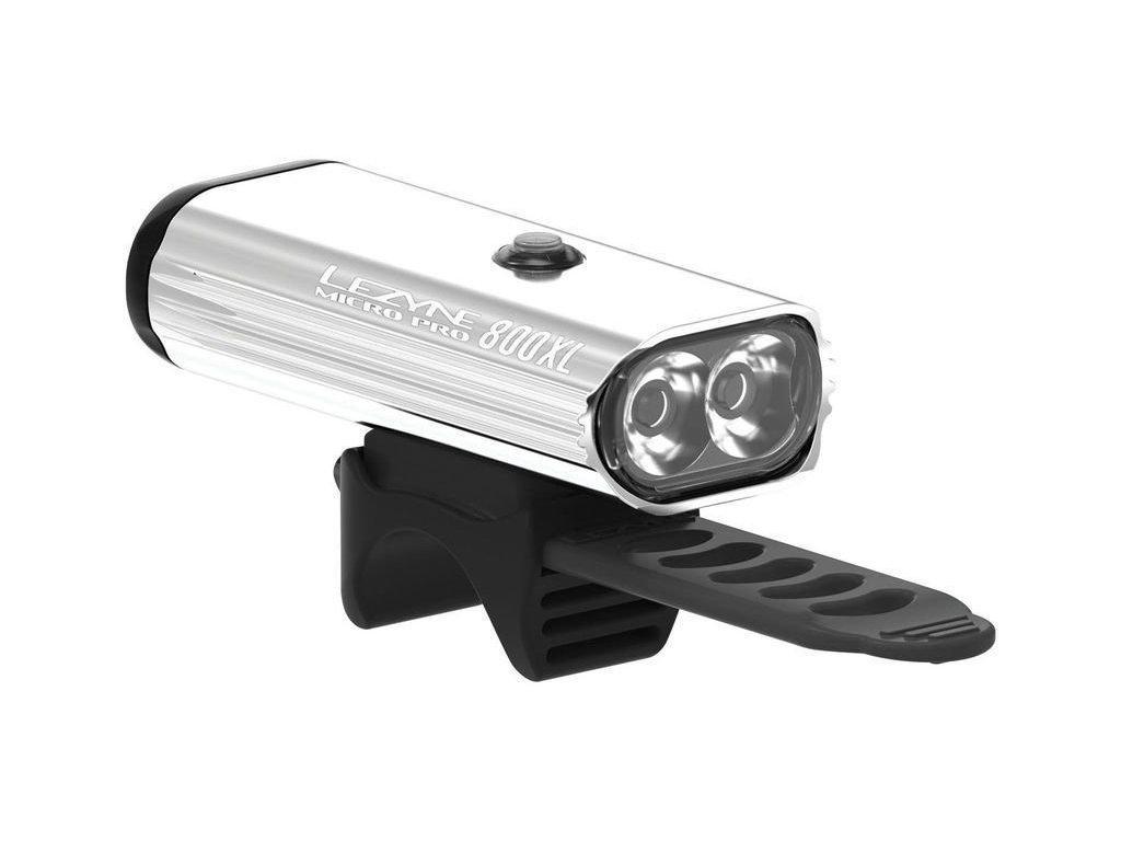 LEZYNE Micro Drive Pro 800Xl Silver/Hi Gloss