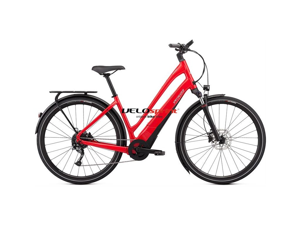 SPECIALIZED Turbo Como 4.0 700C - Low-Entry Flo Red W/Ghostblue Pearl/Black/Chrome 2019