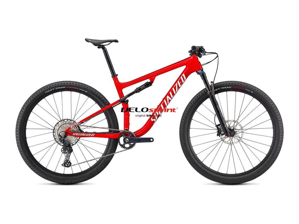SPECIALIZED Epic Comp Gloss Flo Red W/ Red Ghost Pearl/Metallic White Silver 2021