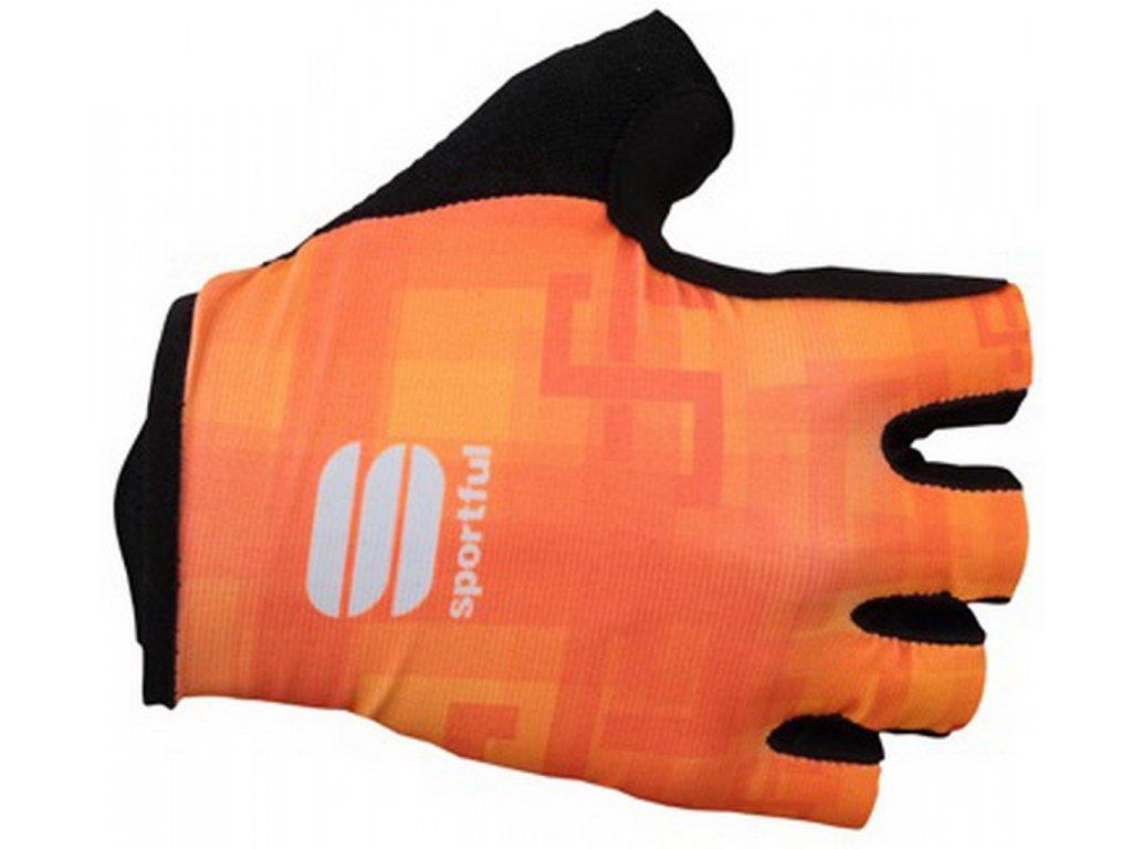SPORTFUL SAGAN LOGO rukavice oranžové