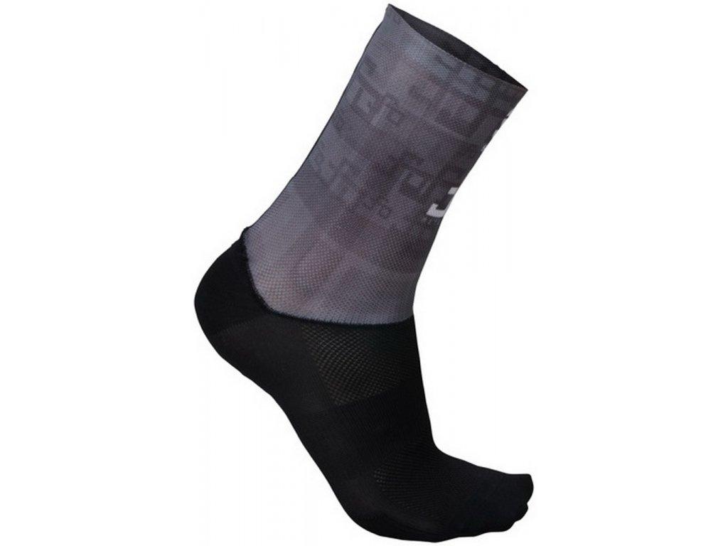 SPORTFUL SAGAN LOGO ponožky tmavosivé