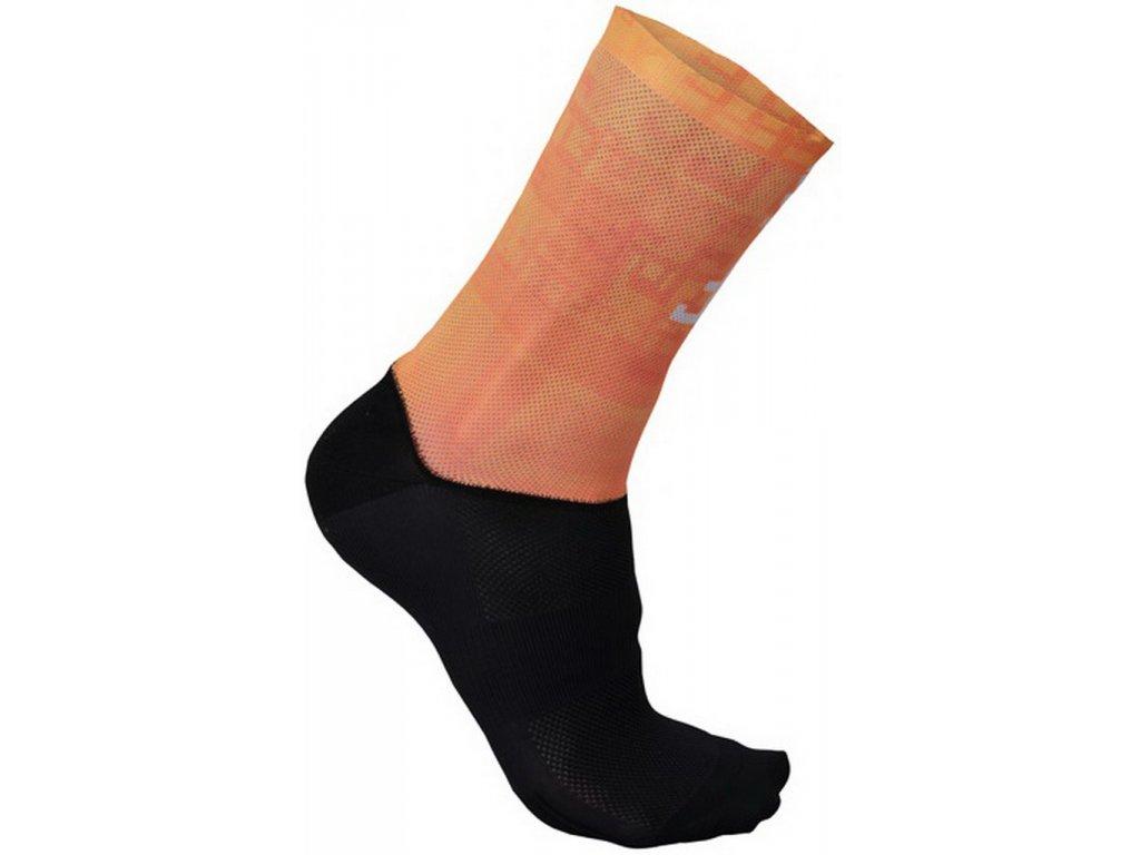 SPORTFUL SAGAN LOGO ponožky oranžové
