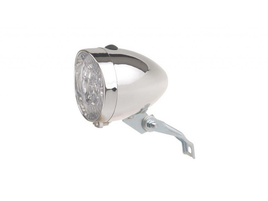 Osvetlenie Predné CTM Retro 1Led Batériové Strieborné