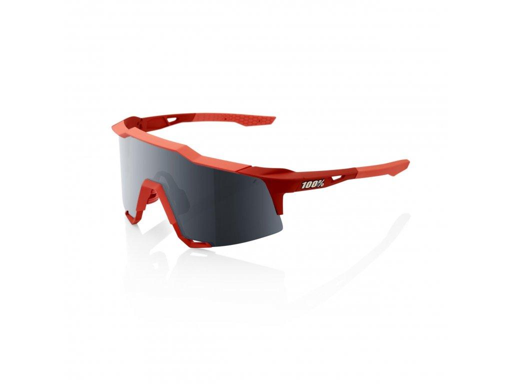 100% SPEEDCRAFT - Soft Tact Coral - Black Mirror Lens Okuliare