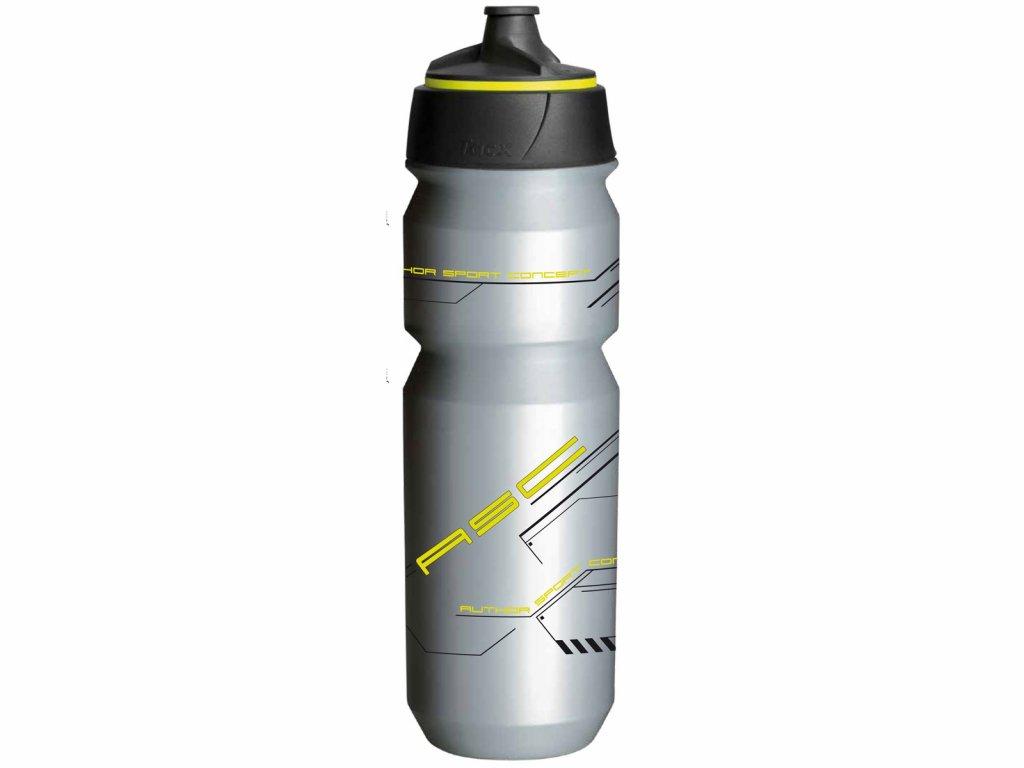 Fľaša AUTHOR Ab-Tcx-Shanti X9 0,85 L Strieborná/Neón Žltá