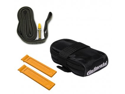 "Continental Kapsička pod sedlo/ Tube bag with Race 28 tube FV60 and 2 tire levers Race 28"" Galuskový 60 mm"