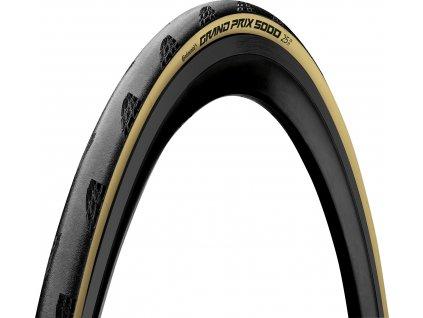 Continental Grand Prix 5000 Cream TdF LTD 700 x 25C (25-622) Black Chili + Poly X Breaker (Farba Krémová, Priemer kolies 700 x 25C (25-622))