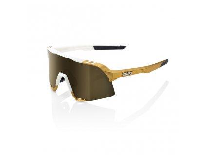 100% S3 - Peter Sagan LE White Gold - Soft Gold Mirror LE 2020 (Farba Zlatá)