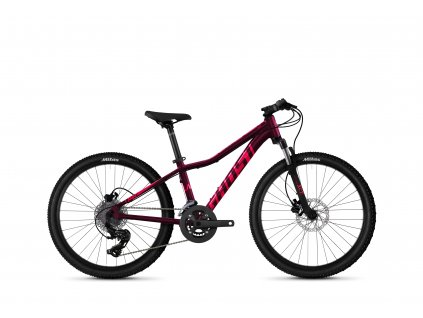 """GHOST Lanao 24"""" Essential Blackberry/Electric Pink 2021"""