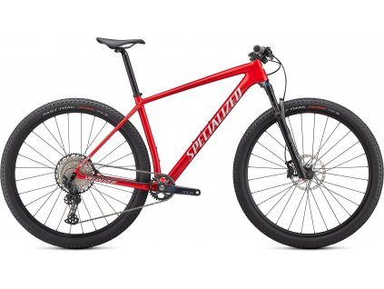 SPECIALIZED Epic Hardtail Comp Gloss Flo Red W/Red Ghost Pearl/Metallic White Silver 2021