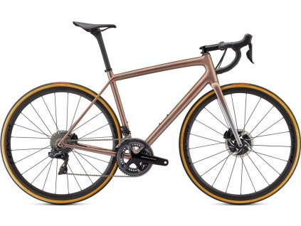 SPECIALIZED S-Works Aethos - Dura Ace Di2 Satin Flake Silver/Red Gold Chameleon Tint/Brushed Chrome 2021