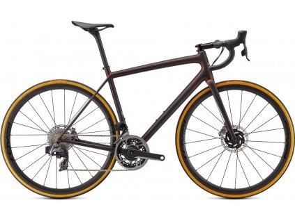 SPECIALIZED S-Works Aethos - SRAM Red eTap AXS Satin Carbon/Red Gold Chameleon/Bronze Foil 2021