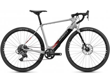 GHOST E-Road Rage Fire 29 LC - Iridium Silver/Jet Black/Red 2021