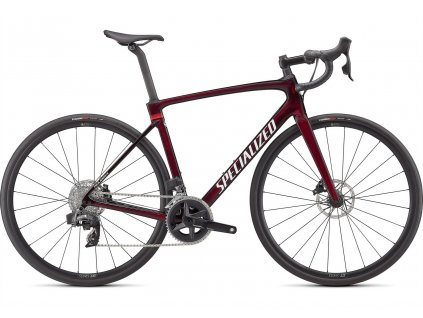 SPECIALIZED Roubaix Comp SRAM Rival ETap AXS Gloss Red Tint Carbon Metallic White Silver 2022