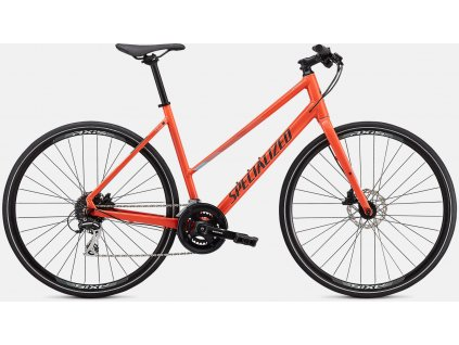 SPECIALIZED Sirrus 2.0 Step Through Gloss Vivid Coral / Summer Blue / Satin Black Reflective