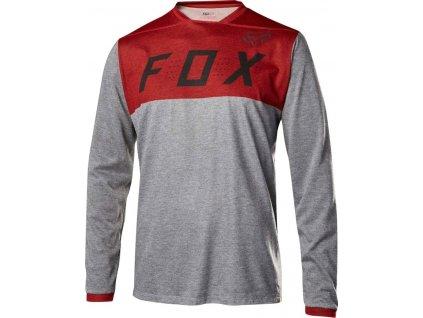 FOX INDICATOR LS JERSEY HEATHER RED