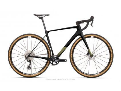 SUPERIOR X-Road Team Issue Di2 GR Matte Black/Olive Metallic 2022