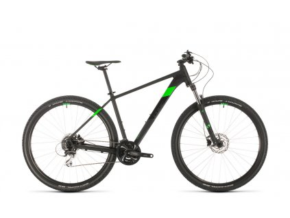 CUBE AIM RACE BLACK-N-FLASHGREEN 2020