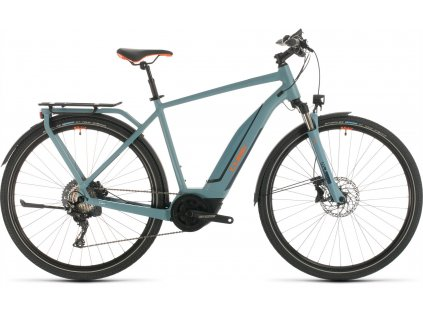 CUBE TOURING HYBRID EXC 500 BLUE-N-ORANGE 2020