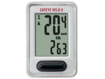 Cyklopočítač CATEYE Velo 9 (Vl820) Biely