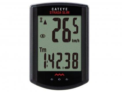 Cyklopočítač CATEYE Strada Wireless Slim - Road (Rd310W) Čierny