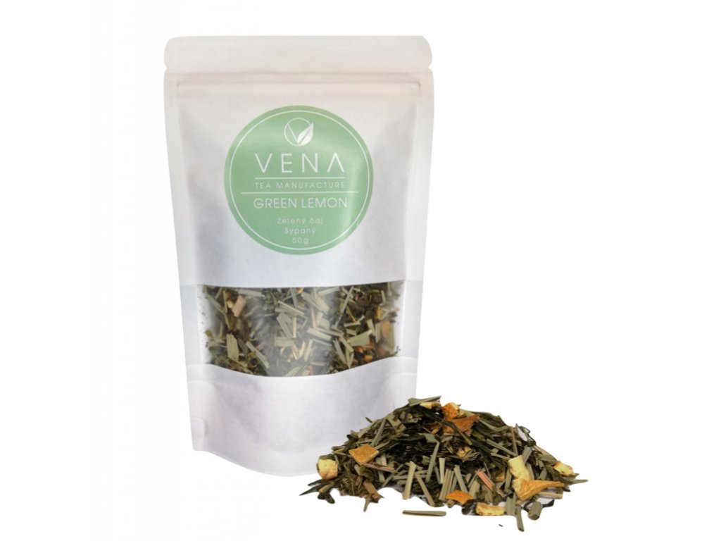 green lemon - zelený čaj -  venashop.cz
