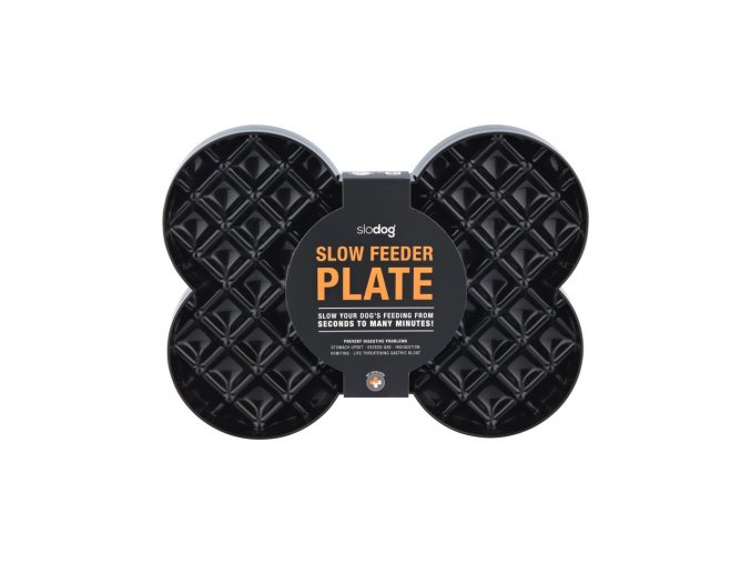 SLOW FEEDER PLATE BLACK 1